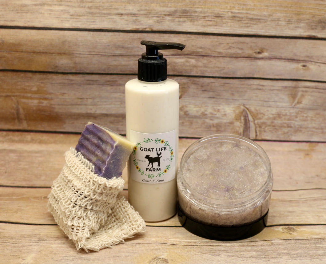 Lavender Love - Exfoliating and Moisturizing bundle