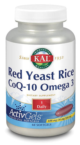 red yeast rice q10 omega 3 kal