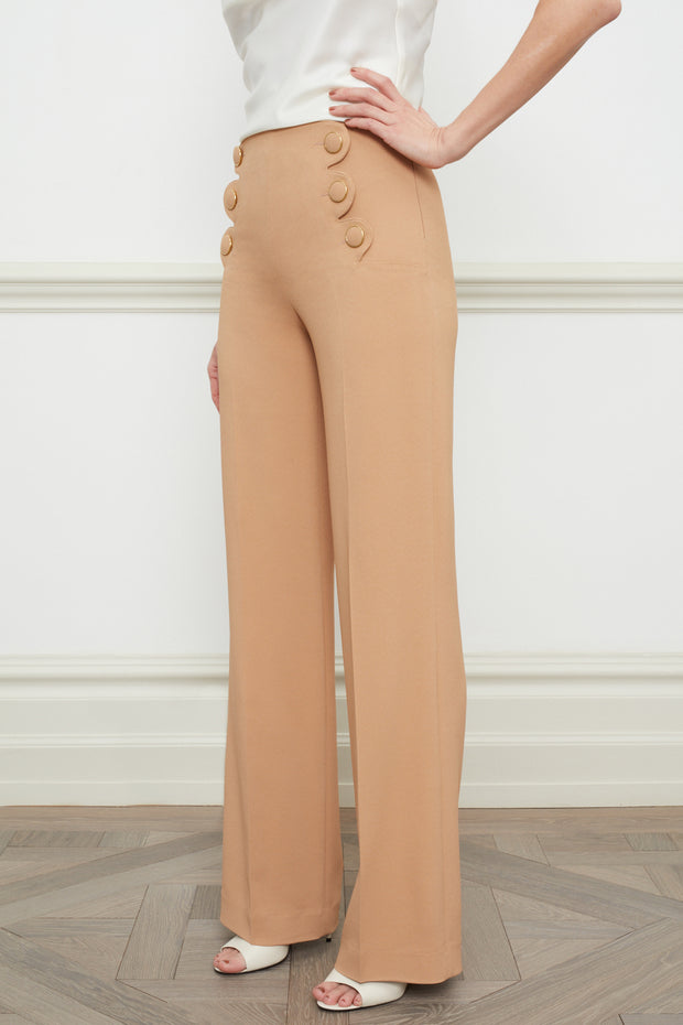 Andrea wide leg trousers camel