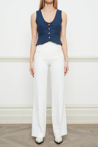 Andrea wide leg trouser white