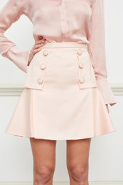 Laura button front mini skirt