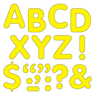 "Yellow 2"" Letters & Marks Stick-Eze Stick-On Letters"