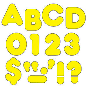 "Yellow 4"" Casual Uppercase Ready Letters"
