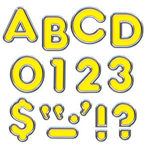 "Yellow 4"" Colorful Chrome Uppercase Ready Letters"