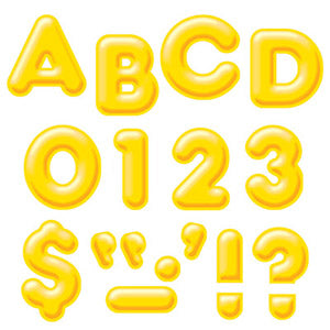 "Yellow 4"" 3-D Uppercase Ready Letters"