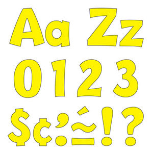 "Yellow 4"" Playful Uppercase/Lowercase Combo Pack (EN/SP)"