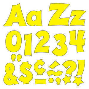 "Yellow 4"" Friendly Uppercase/Lowercase Combo Pacl (EN/SP)"