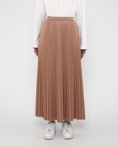 Maxi Sunray Skirt Latte