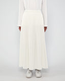 Maxi Sunray Skirt White