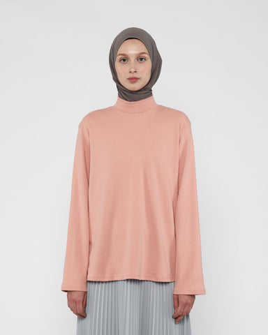 Turtleneck Tee Peach