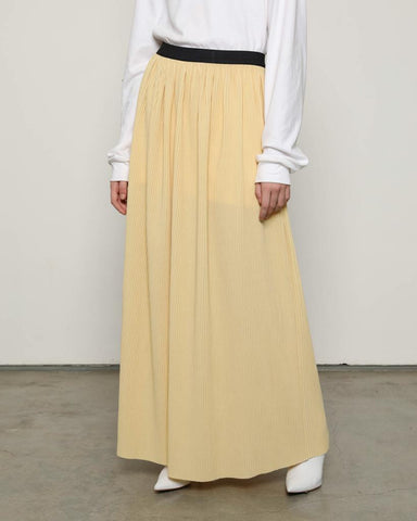 Lidi Pleats Skirt Yellow