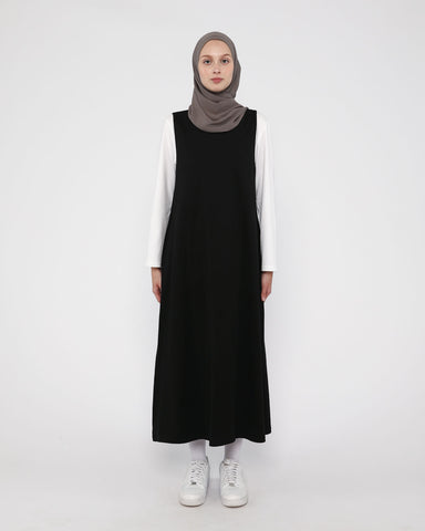 Sleveless Pocket Dress Black
