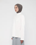 Turtleneck Tee White