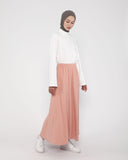 Long Panel Skirt Peach
