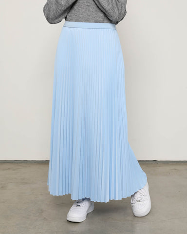 Maxi Sunray Skirt Pastel Blue