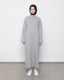 Turtleneck Dress Grey
