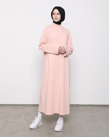 Turtleneck Dress Peach