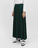 Maxi Sunray Skirt Bottle Green