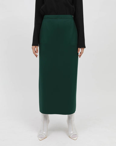 Pencil Skirt Bottle Green