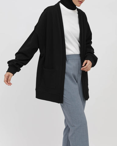 Terry Cardigan Black
