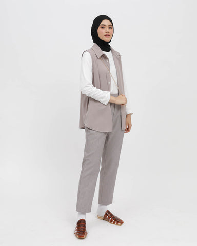 Sleeveless Shirt Grey