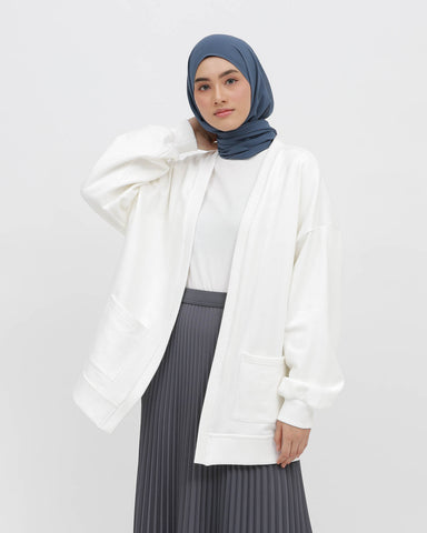 Terry Cardigan White
