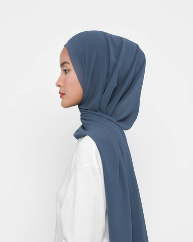 Instant Pashmina Denim Blue