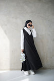 Flowy V Dress Black