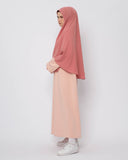 Saba Long Khimar Peach