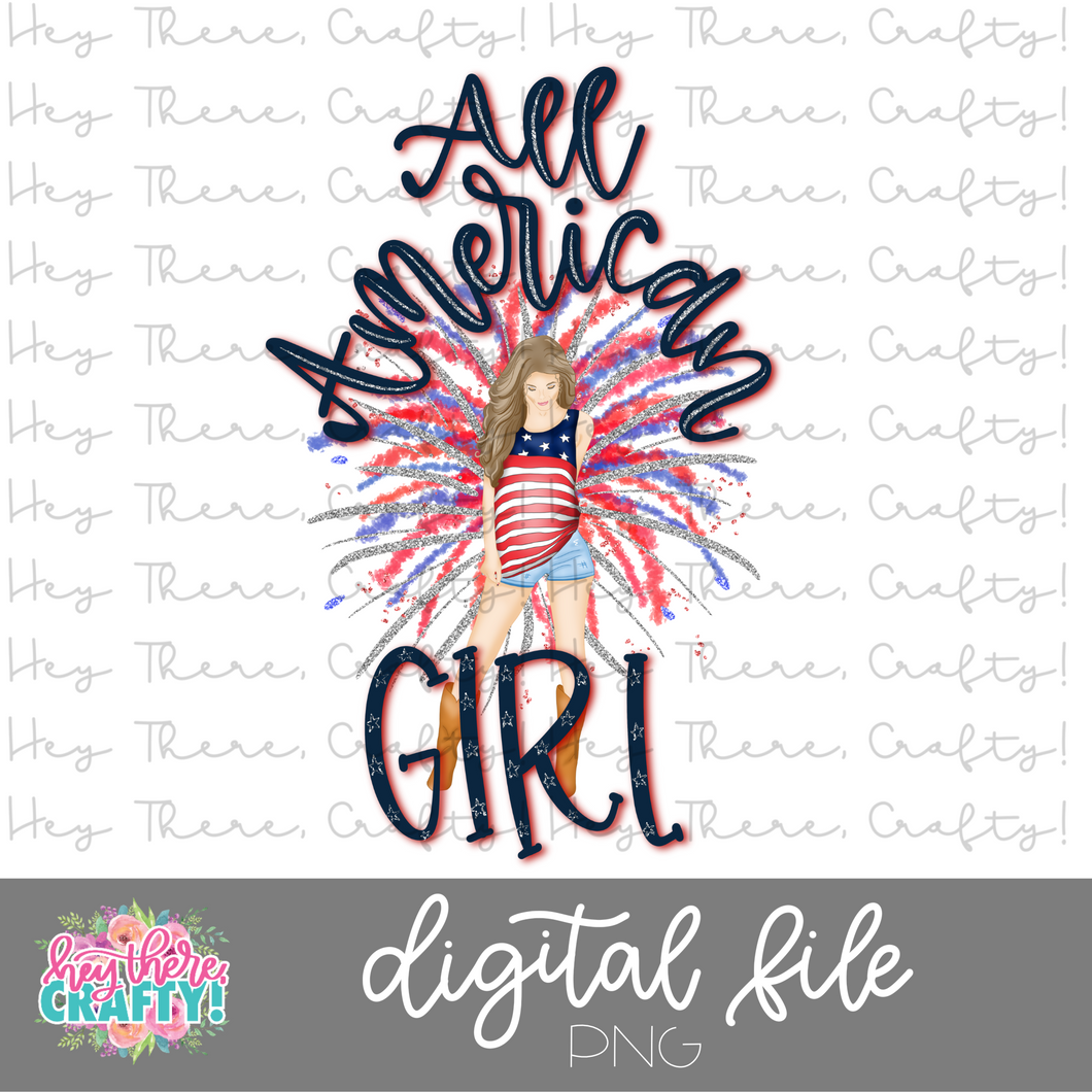 All American Girl | PNG File