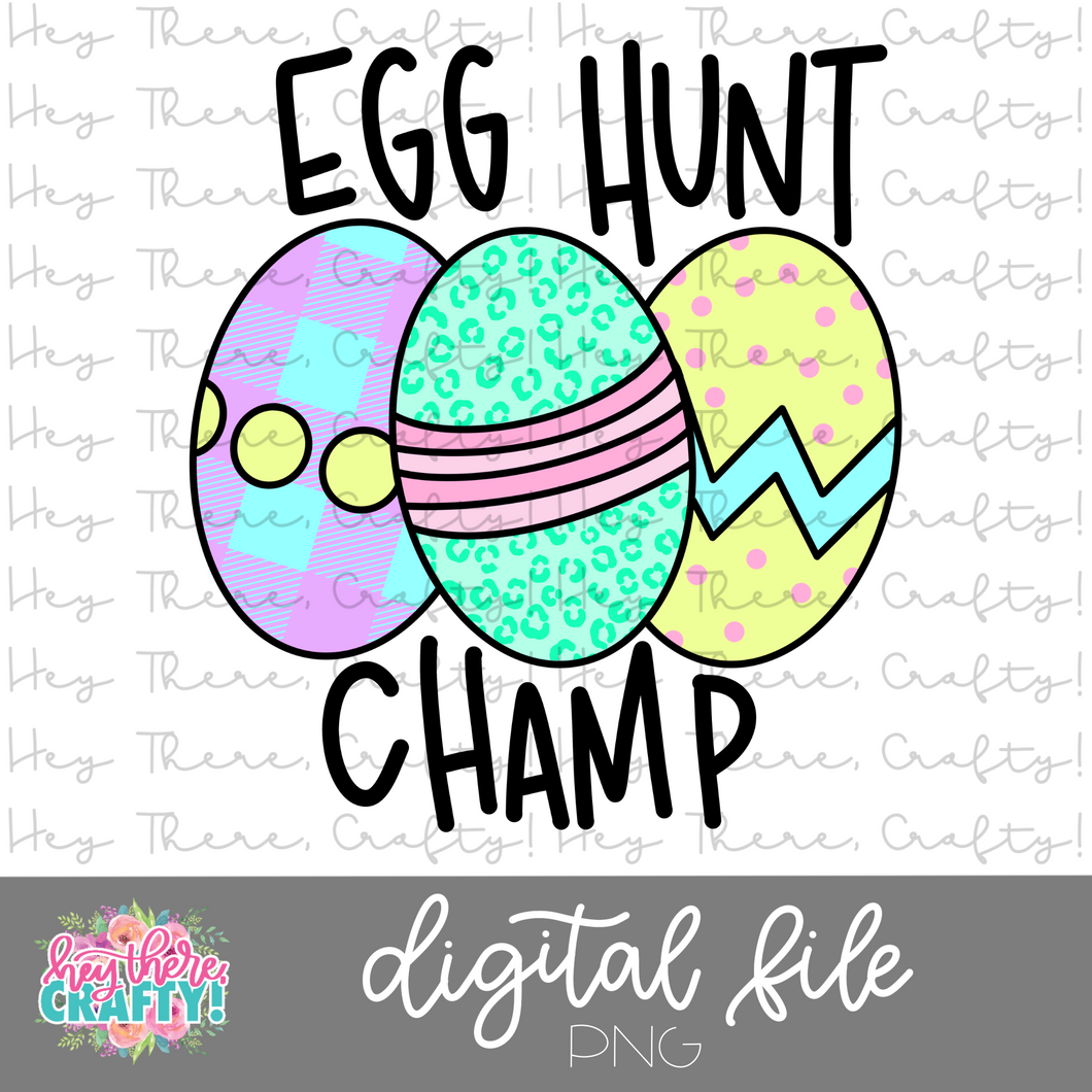 Egg Hunt Champ  | PNG File