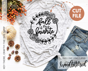 Fall is my Favorite | SVG, PNG, DXF, JPEG