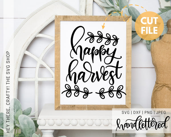 Happy Harvest | SVG, PNG, DXF, JPEG