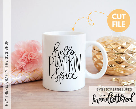 Hello Pumpkin Spice | SVG, PNG, DXF, JPEG