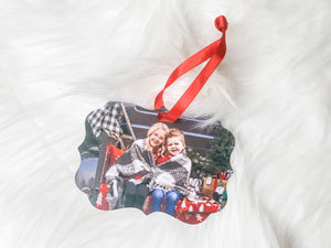 Custom Photo Aluminum Ornament