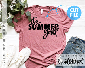 It's Summer Y'all | SVG, PNG, DXF, JPEG