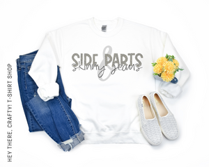 Side Parts & Skinny Jeans Sweatshirt