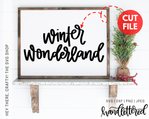 Winter Wonderland | SVG, PNG, DXF, JPEG