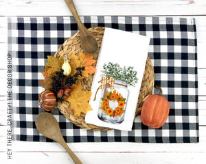 Fall Jar Hand Towel