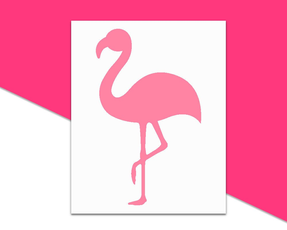 Flamingo Decal // Summer Decal, Car Decal, Girly Decal, Flamingo Car Decal, Notebook Decal