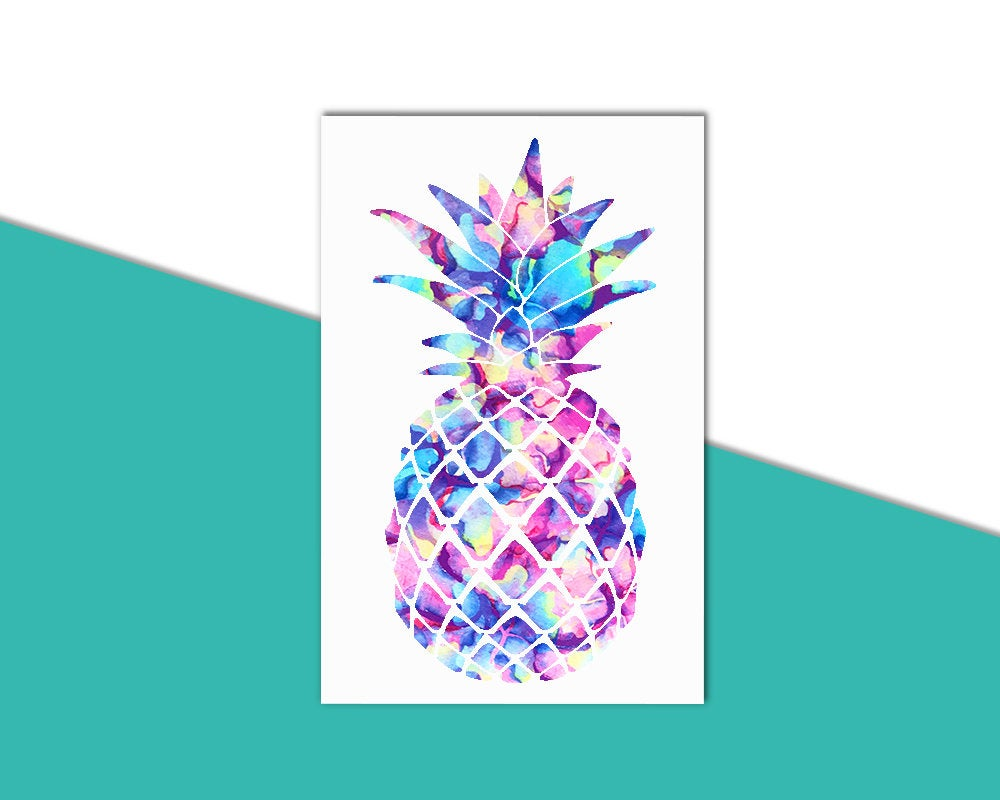 Pineapple Decal, Pineapple Car Decal, Pineapple Sticker, Girly Decal, Notebook Decal, Water Bottle Decal, Tropical Decal