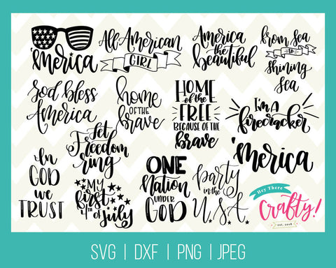4th of July Bundle  | SVG, PNG, DXF, JPEG