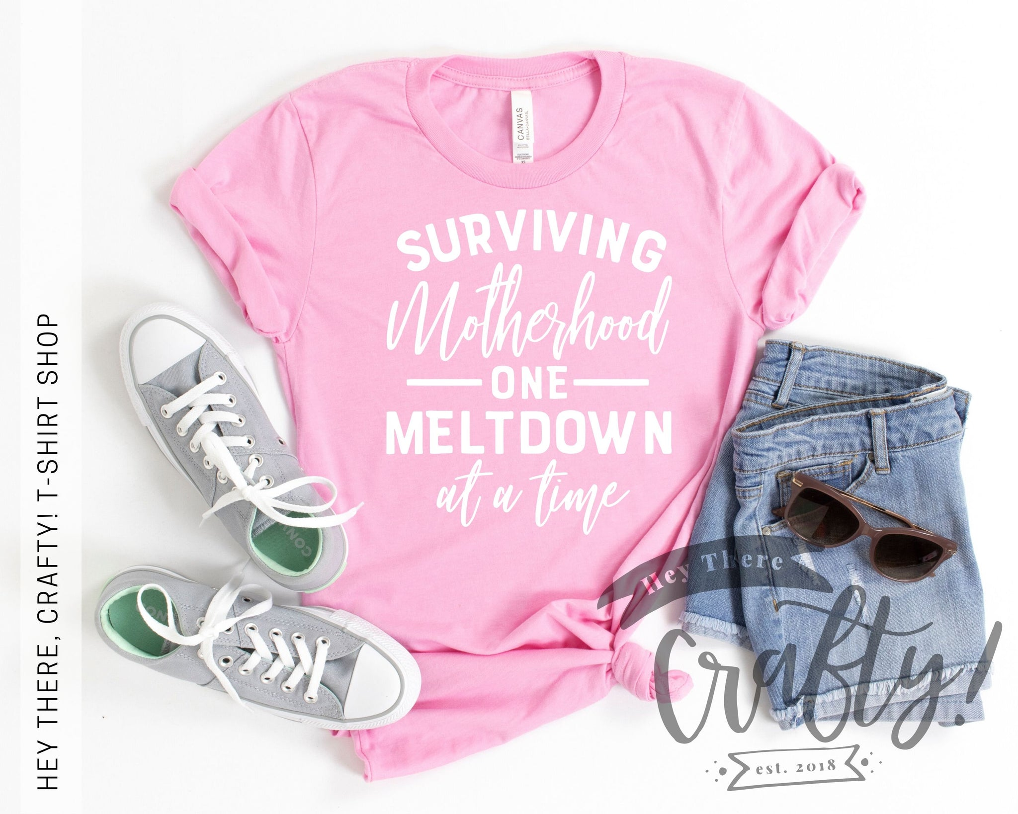 Surviving Motherhood One Meltdown at a Time T-Shirt