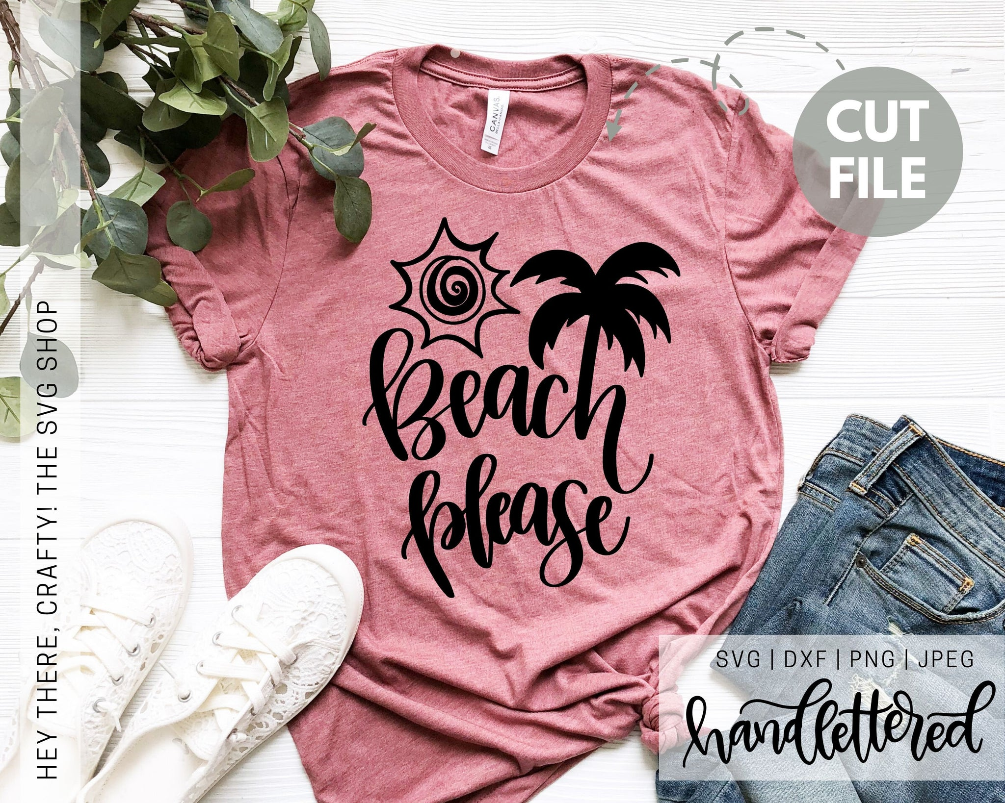 Beach Please | SVG, PNG, DXF, JPEG