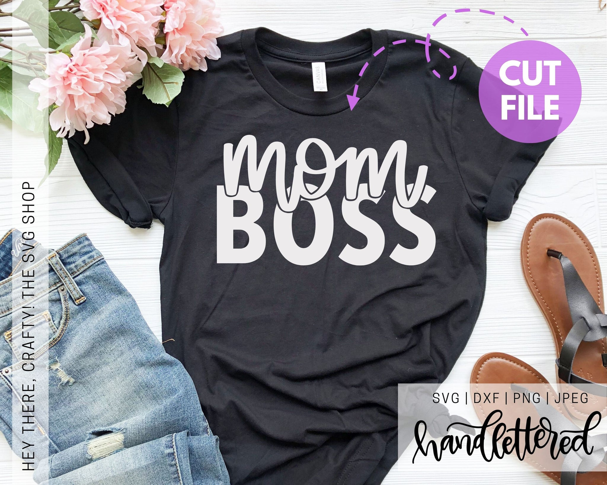 Mom Boss | SVG, PNG, DXF, JPEG