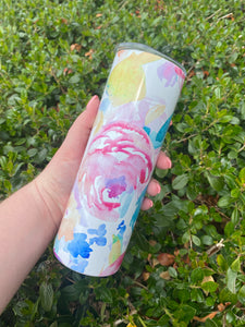 Floral | 20oz Tumbler with Straw