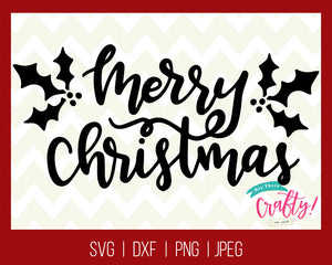 Merry Christmas | SVG, PNG, DXF, JPEG