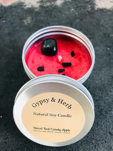 Blood Red Candy Apple Candle