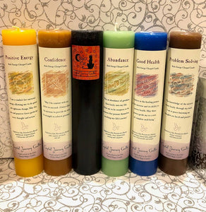 Reiki Charged Pillar Intention Candles