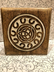 Light Wooden Triquetra  Altar Table